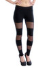 Long Leggings - Cotton with see through Mesh, Junior Size