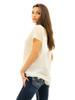 Entro Women's Chiffon Ruffle Lace Top