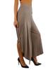 Vivian's Fashions Women Skirt - Overlap Long Skirt Pants with Slit