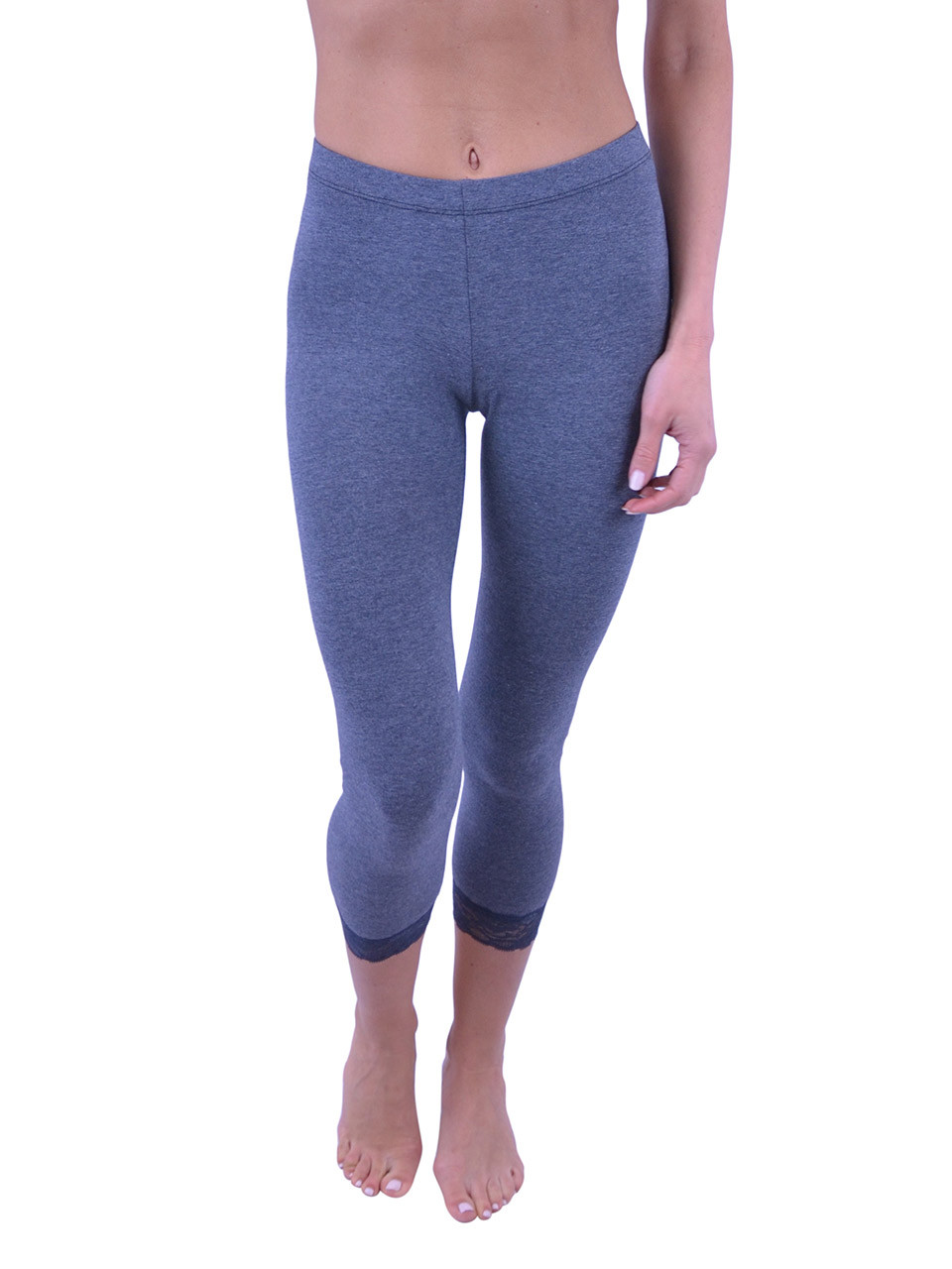 57ac0cf090dc2 Vivian s Fashions Capri Leggings - Cotton