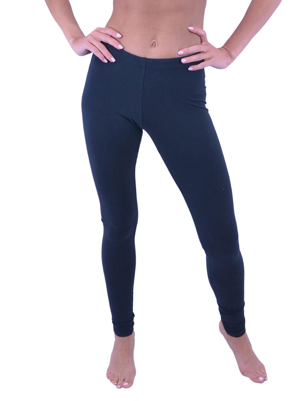 2d1723485e3a6f Vivian's Fashions Long Leggings - Cotton (Junior and Junior Plus Sizes) - Vivian's  Fashions