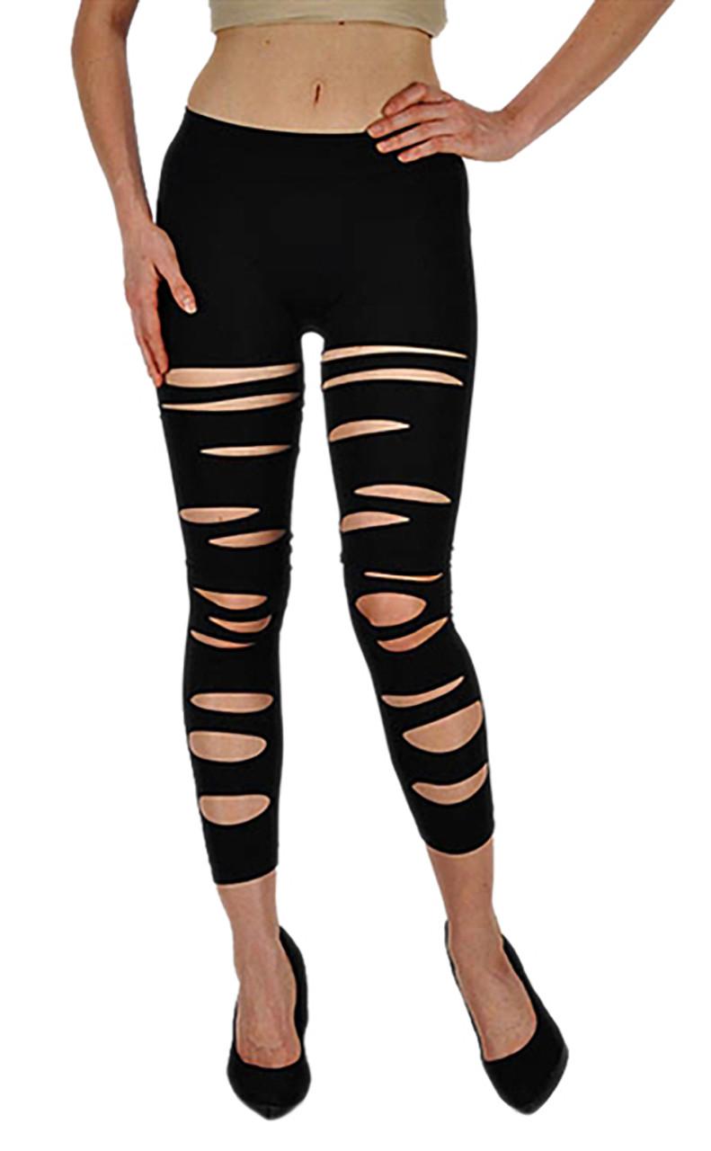 6377c6f4d5 Vivian s Fashions Capri Leggings - Front Slashed (Junior and Junior ...
