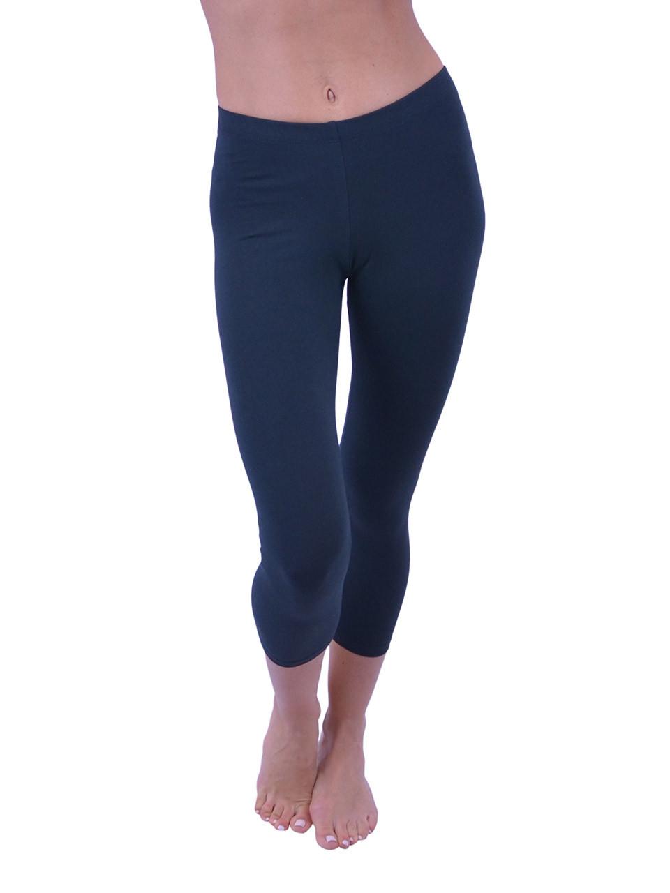 67fef210d570a Vivian s Fashions Capri Leggings - Cotton (Junior and Junior Plus Sizes) - Vivian s  Fashions