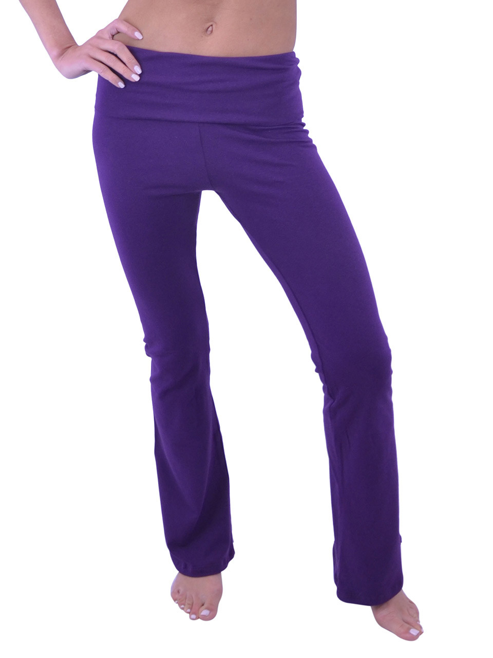 3a54c22408e Vivian s Fashions Yoga Pants - Full Length (Junior and Junior Plus Sizes)