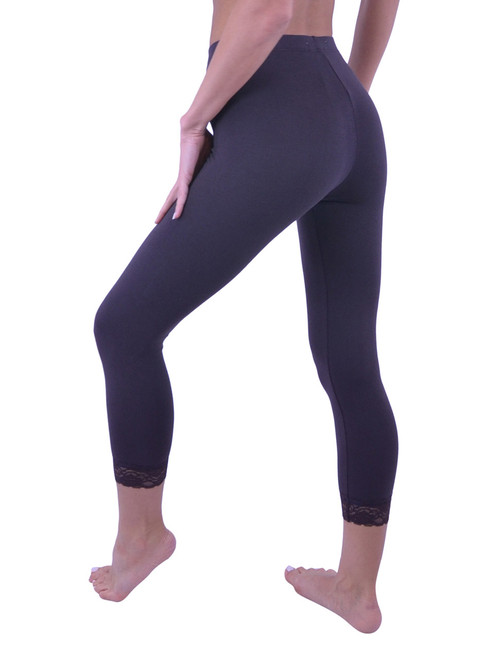 3845f0706b658 ... Vivian s Fashions Capri Leggings - Cotton