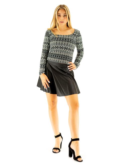 Skirt - Matte, Liquid Leather