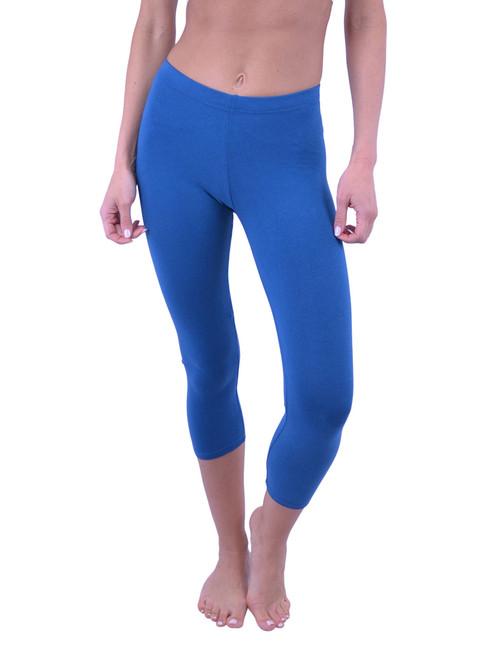 Vivian's Fashions Capri Leggings - Cotton (Misses and Misses Plus Sizes)