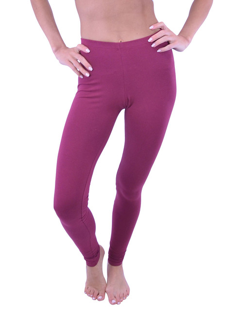 Long Leggings - Cotton, (Misses and Misses Plus Sizes)
