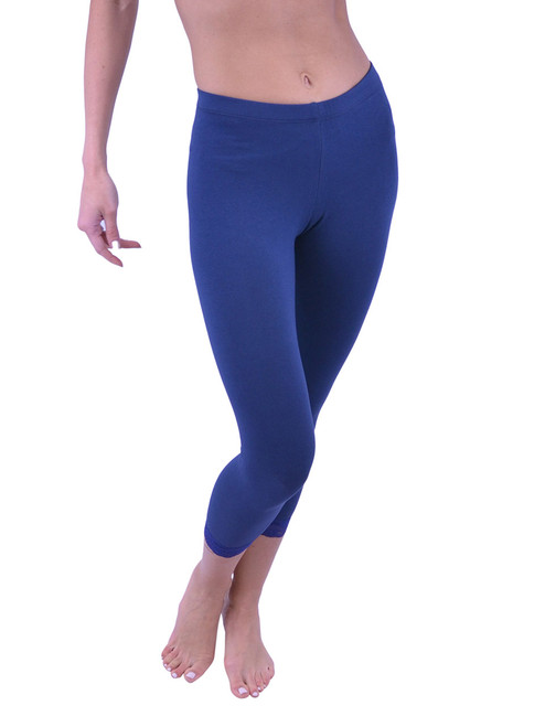 Capri Leggings - Cotton, Lace Trim (Junior/Junior Plus Sizes)