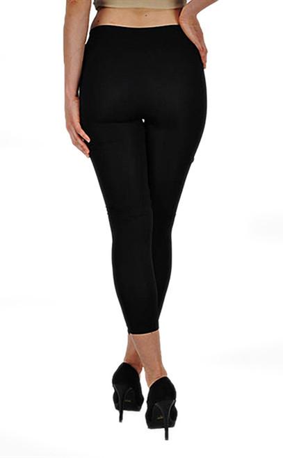1e66a85441 Vivian s Fashions Capri Leggings - Front Slashed (Junior and Junior Plus  Sizes)
