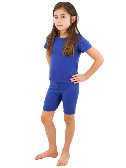 Vivian's Fashions Legging Shorts - Girls, Biker Length, Cotton