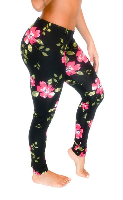 Long Leggings - Floral Design (Junior and Junior Plus Sizes)