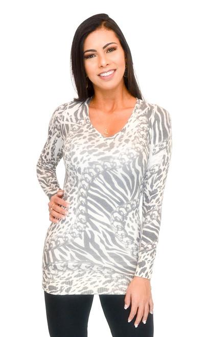 Sweater - Hacci Print (Grey, Small)
