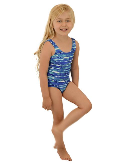 Vivian's Fashions Swimwear - Girls One-piece, Scoop Back