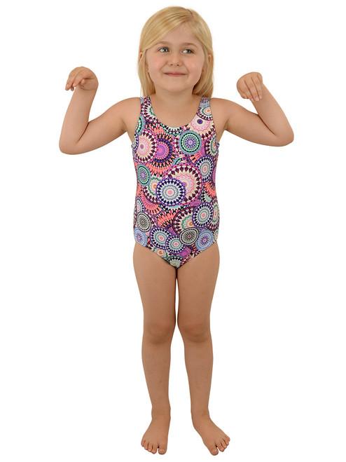 Swimwear - Girls One-piece, Scoop Back