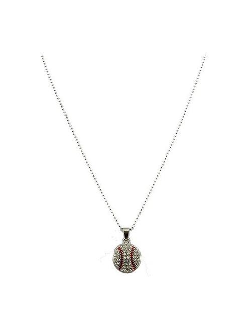 Baseball Pendant Necklace
