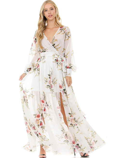 Dress - Maxi Dress, Long Sleeve