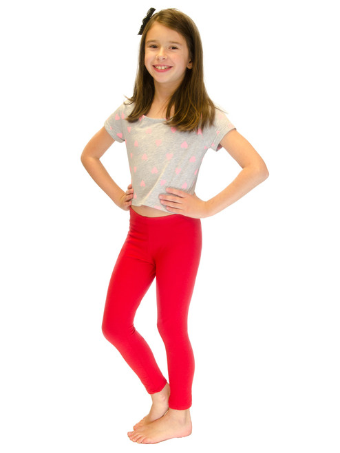 Long Leggings - Girls, Cotton, BULK (6 Pack)