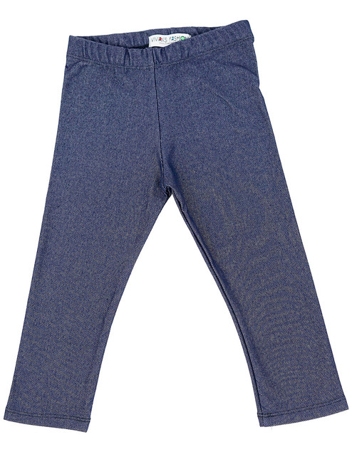 Long Leggings - Toddler Girls, Knit Denim