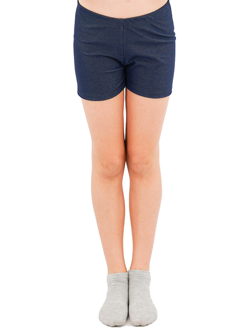Legging Shorts - Girls, Knit Denim