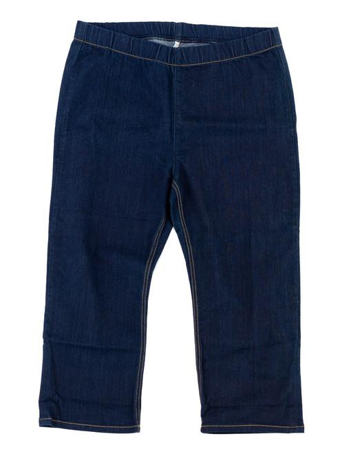 Jeans - Capri Stretch Denim, Plus Size