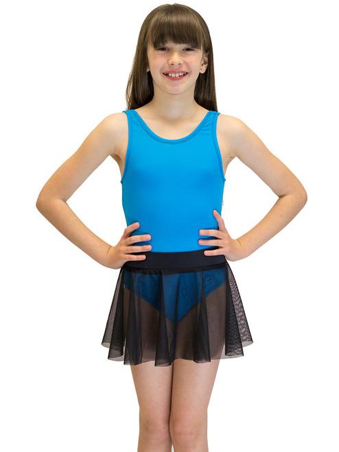 Swimwear - Girls Swimsuit Cover Up, Mesh Skirt