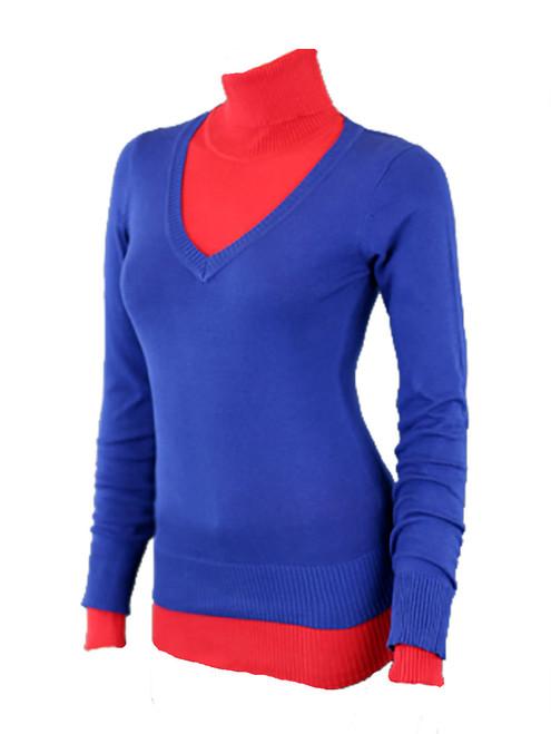 Active Women - V-Neck Sweater, Long Sleeve