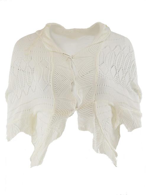 Shrug-Style Lace Cardigan, 3/4 Bat Sleeve