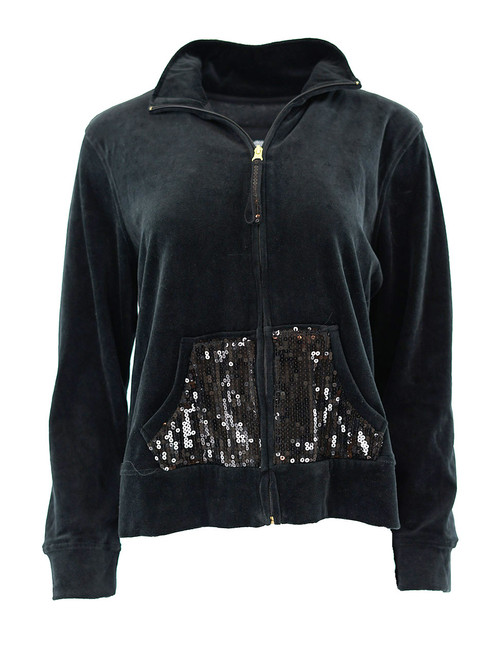Women's Velour Hoodie Jacket