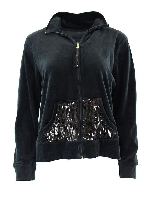 Women Velour Hoodie Jacket