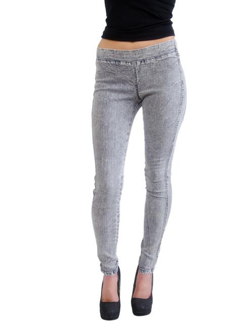 Milkyway Women's Denim Acid Wash Legging (Ash Grey) …