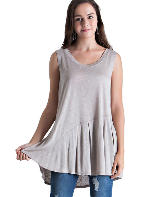Entro Tunic Tee with Picktuck Waist