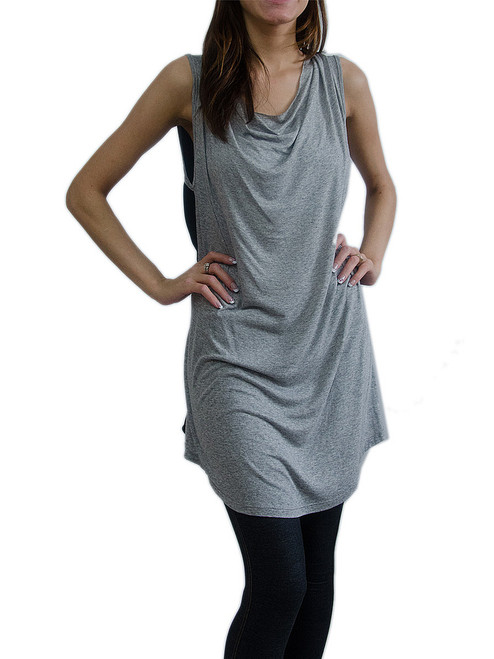 Milkyway Grey and Black Top with Cowl Neckline