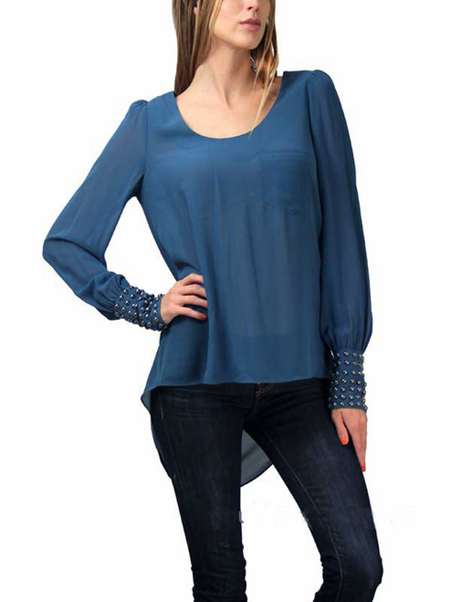 Double Zero Long Sleeve Double Cuffed Top