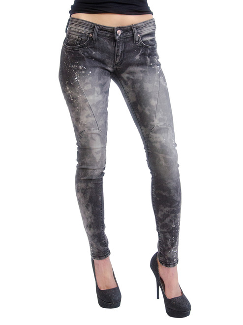 ChiQle Jeans - Distressed, Painter Stains Junior Size