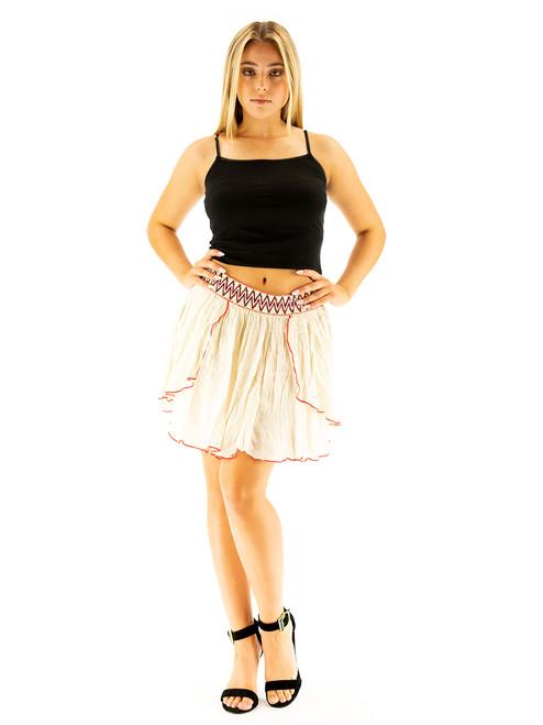 Crochet Lace Layers Short Skirt. Mini Length