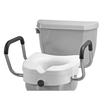 Locking Elevated Toilet Seat with Arms 5""