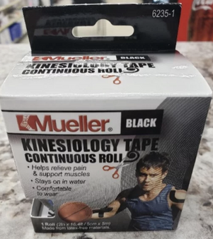 Kinesiology Tape Black Continuous