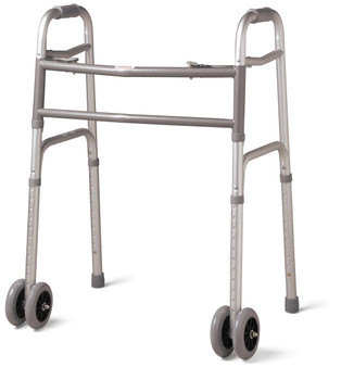 Adult Bariatric Folding Walker with Wheels