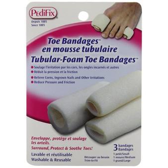 Tubular-Foam Toe Bandages™