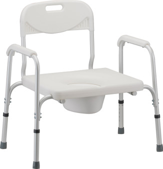 Bariatric Commode with Back and Extra Wide Seat