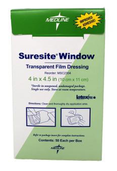 """Suresite Transparent Film Dressing 4x4 ½"""""""