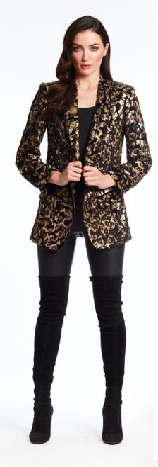 Leopard Sequin Jacket