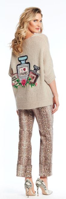 """I Love Paris"" Sweater (cotton poly knit)"