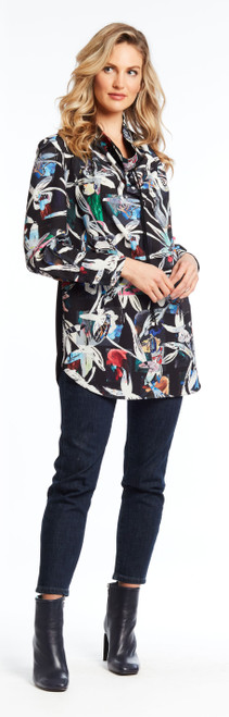Floral Print Multi-Colored tunic top