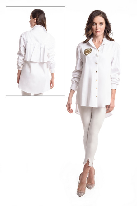 Ruffle Back Tunic Shirt