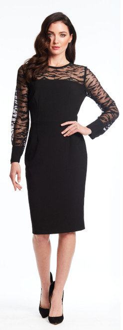 Sheer Long Sleeve Cocktail Dress