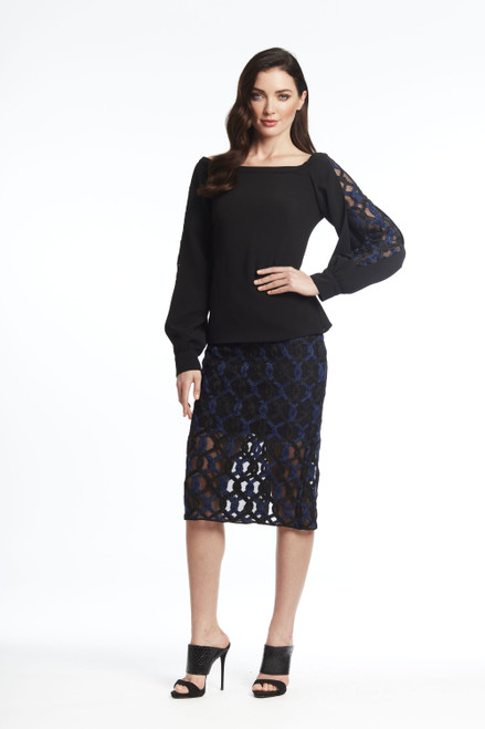 Roped lace skirt