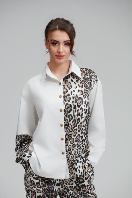White-Leopard Blouse