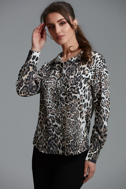 Leopard Blouse Button-down